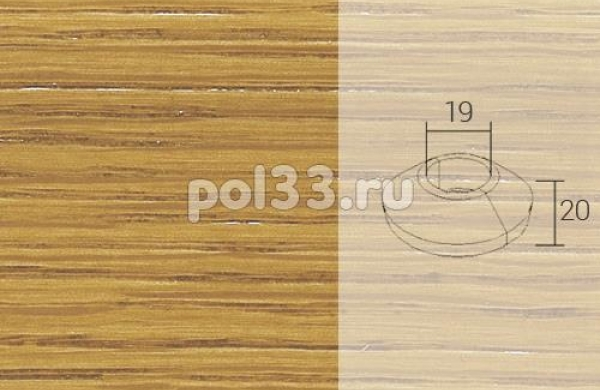 Плинтуса и пороги Pedross Кольцо массивное 19x20 Дуб