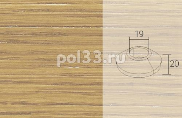 Плинтуса и пороги Pedross Кольцо массивное 19x20 Дуб без покрытия