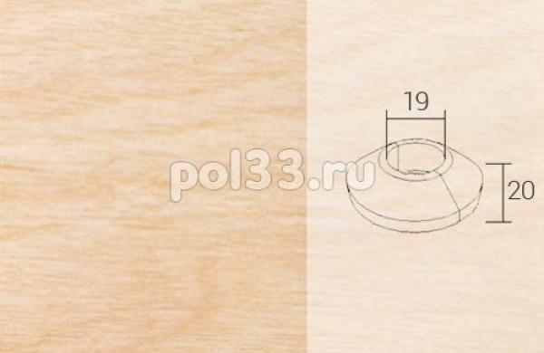Плинтуса и пороги Pedross Кольцо массивное 19x20 Клен