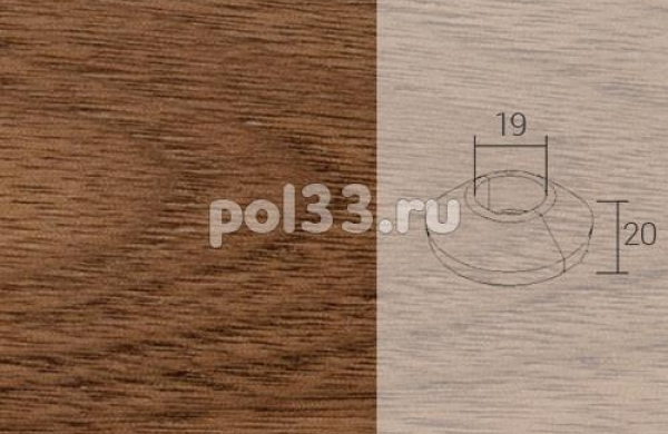 Плинтуса и пороги Pedross Кольцо массивное 19x20 Орех