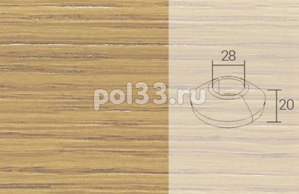 Плинтуса и пороги Pedross Кольцо массивное 28x20 Дуб без покрытия