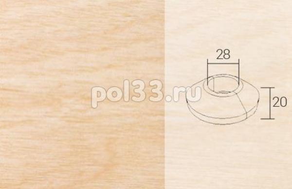 Плинтуса и пороги Pedross Кольцо массивное 28x20 Клен