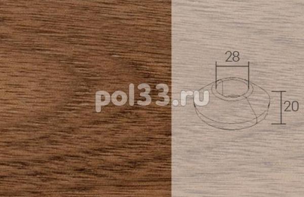 Плинтуса и пороги Pedross Кольцо массивное 28x20 Орех
