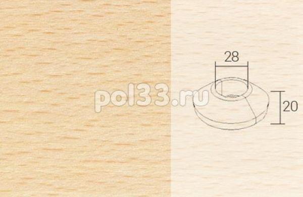 Плинтуса и пороги Pedross Кольцо массивное 34x20 Бук