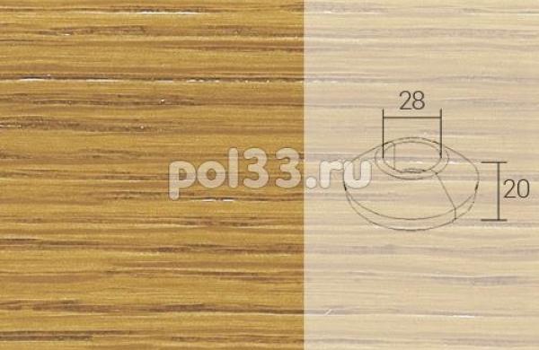Плинтуса и пороги Pedross Кольцо массивное 34x20 Дуб