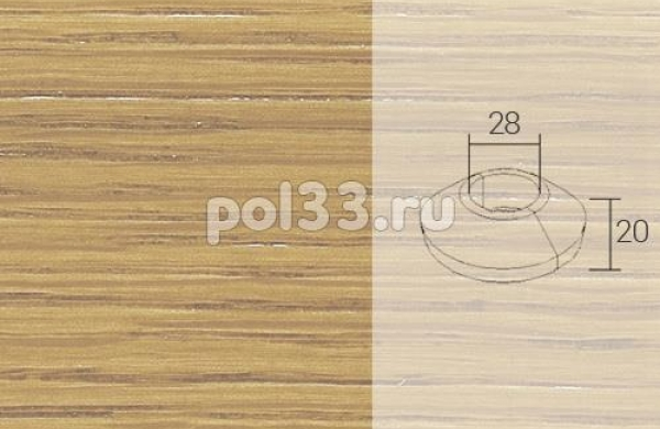 Плинтуса и пороги Pedross Кольцо массивное 34x20 Дуб без покрытия