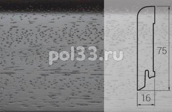 Плинтуса и пороги DL Profiles Шпонированный 75х16 мм Венге натур темный S8