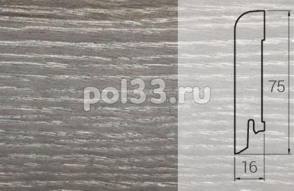 Плинтуса и пороги DL Profiles Шпонированный 75х16 мм Графит 539