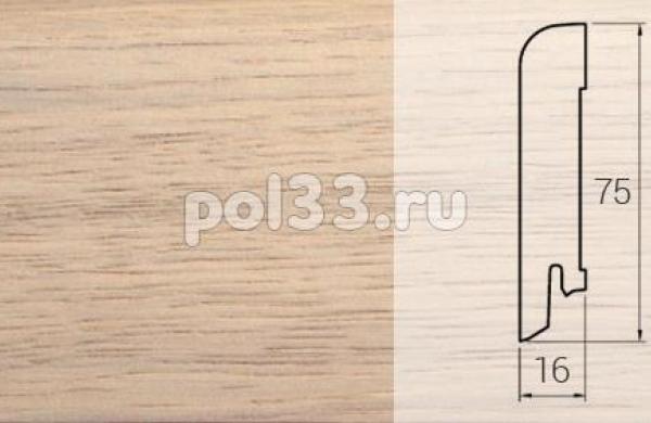 Плинтуса и пороги DL Profiles Шпонированный 75х16 мм Дуб жемчуг P3