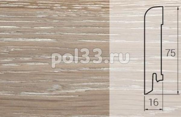 Плинтуса и пороги DL Profiles Шпонированный 75х16 мм Дуб Робусто 001