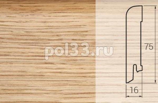 Плинтуса и пороги DL Profiles Шпонированный 75х16 мм Дуб селект браш 005