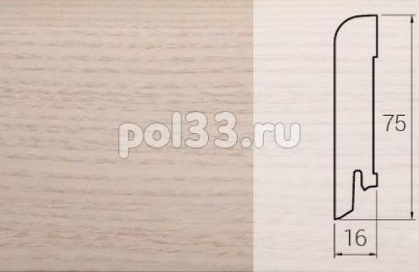 Плинтуса и пороги DL Profiles Шпонированный 75х16 мм Ясень арктик P11