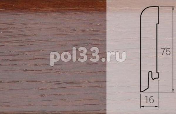 Плинтуса и пороги DL Profiles Шпонированный 75х16 мм Ясень термо 030