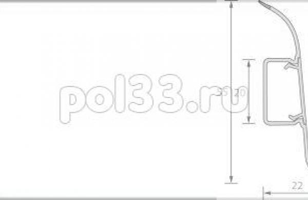 Плинтус Ideal Комфорт 001 Белый