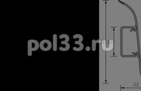 Плинтус Ideal Комфорт 007 Черный