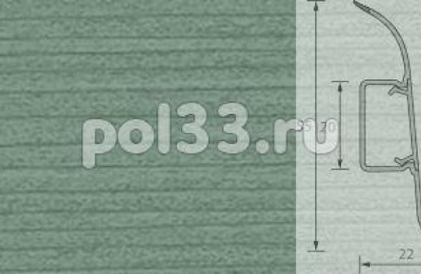 Плинтус Ideal Комфорт 027 Зеленый