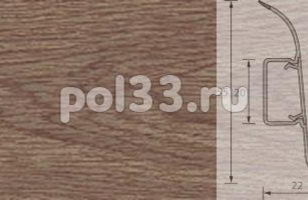 Плинтус Ideal Комфорт 205 Дуб капучино