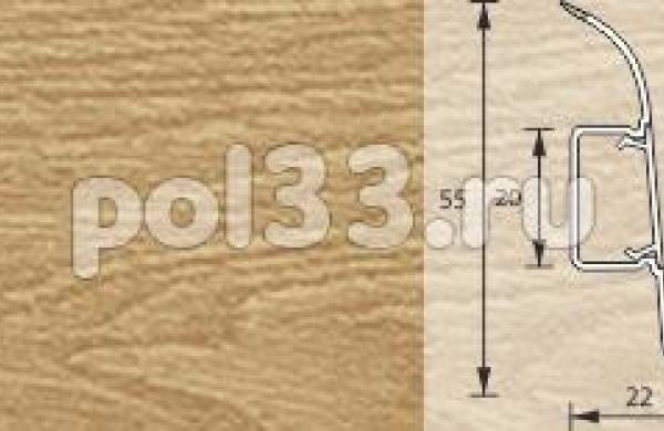 Плинтус Ideal Комфорт 202 Дуб арктик