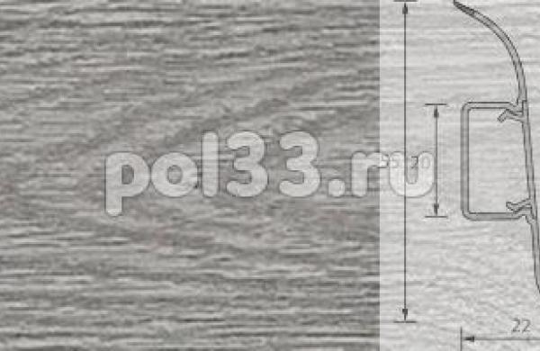 Плинтус Ideal Комфорт 210 Дуб пепельный