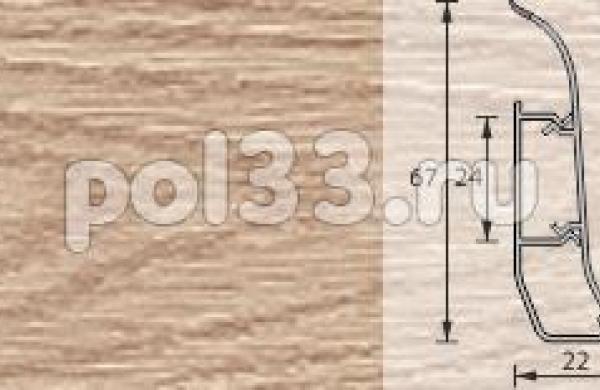 Плинтус Ideal Элит 216 Дуб сафари