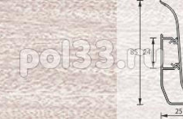 Плинтус Ideal Элит-Макси 254 Ясень светлый