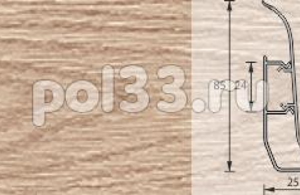 Плинтус Ideal Элит-Макси 216 Дуб сафари