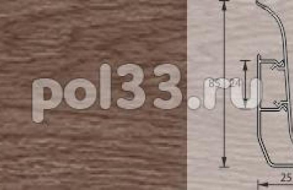 Плинтус Ideal Элит-Макси 205 Дуб капучино
