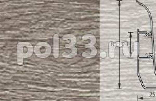 Плинтус Ideal Элит-Макси 208 Дуб мокко