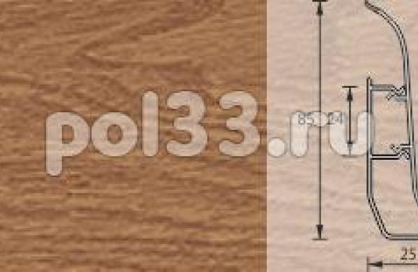 Плинтус Ideal Элит-Макси 206 Дуб коньячный