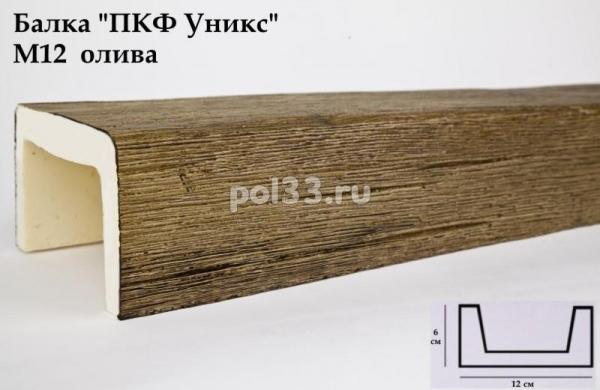 Балка декоративная Уникс Модерн М12 Окрашенная Олива