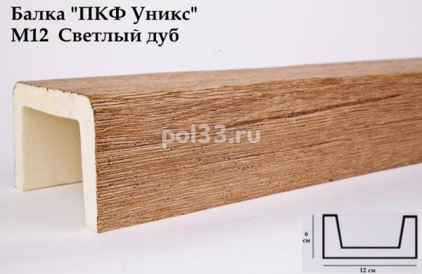 Балка декоративная Уникс Модерн М12 Окрашенная Светлый дуб