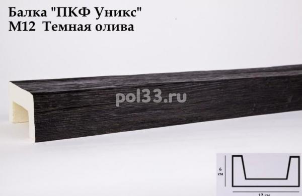 Балка декоративная Уникс Модерн М12 Окрашенная Тёмная олива
