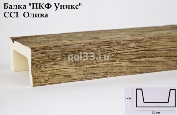 Балка декоративная Уникс Славянский стиль СС1 Окрашенная Олива