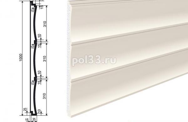 Изосайдинг Lepninaplast (Лепнинапласт) СВ/50/1