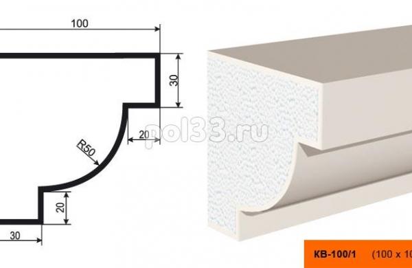 Карниз Lepninaplast (Лепнинапласт) КВ-100/1