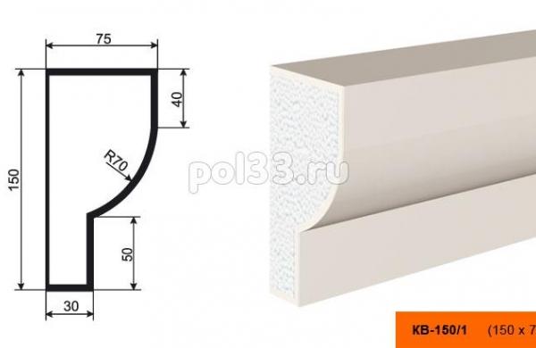 Карниз Lepninaplast (Лепнинапласт) КВ-150/1