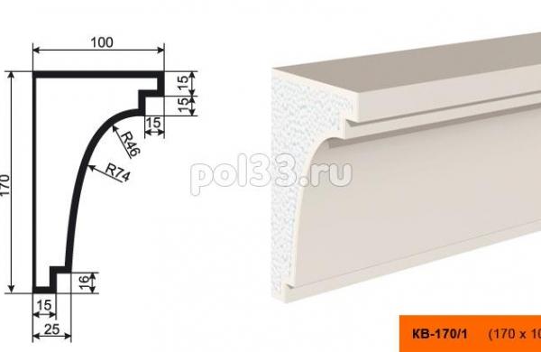 Карниз Lepninaplast (Лепнинапласт) КВ-170/1