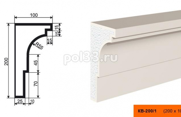 Карниз Lepninaplast (Лепнинапласт) КВ-200/1