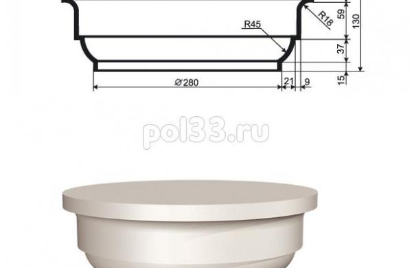 Колонна Lepninaplast (Лепнинапласт) 2-КЛВ-255-1