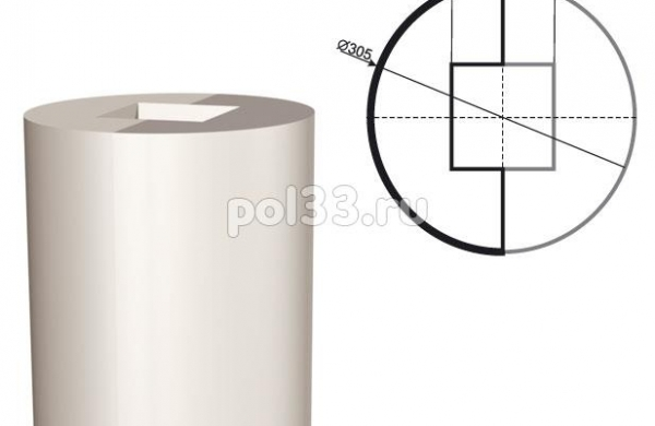 Колонна Lepninaplast (Лепнинапласт) 2-КЛВ-305-2 2500 мм