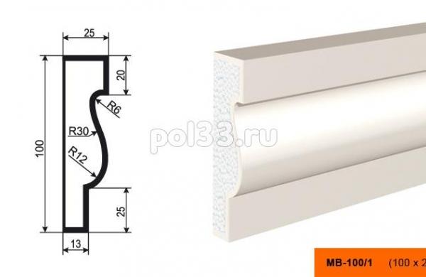 Молдинг Lepninaplast (Лепнинапласт) МВ-100-1