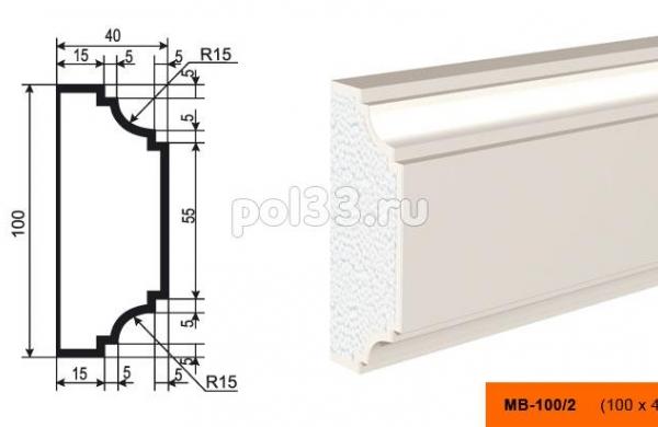 Молдинг Lepninaplast (Лепнинапласт) МВ-100-2