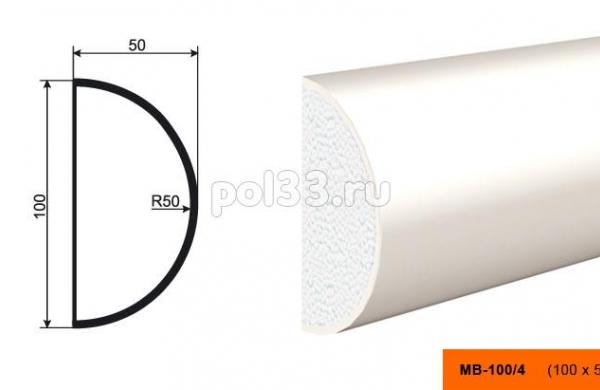 Молдинг Lepninaplast (Лепнинапласт) МВ-100-4