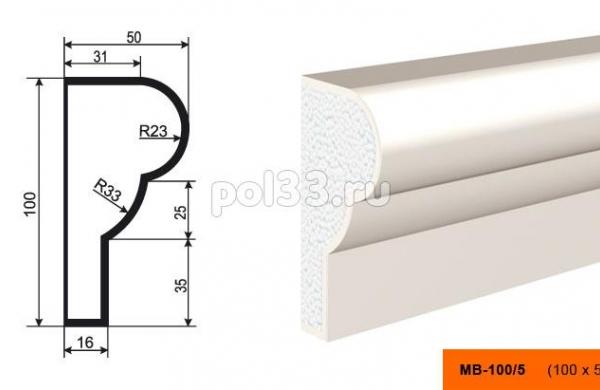 Молдинг Lepninaplast (Лепнинапласт) МВ-100-5