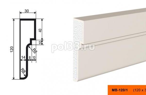 Молдинг Lepninaplast (Лепнинапласт) МВ-120-1