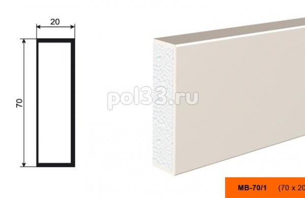 Молдинг Lepninaplast (Лепнинапласт) МВ-70-1