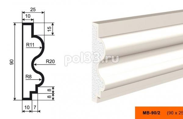 Молдинг Lepninaplast (Лепнинапласт) МВ-90-2