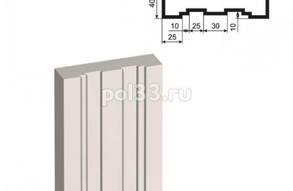 Пилястра Lepninaplast (Лепнинапласт) ПЛВ-150-3 2500 мм