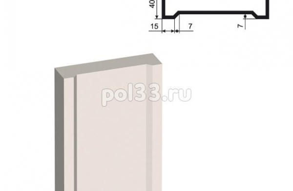 Пилястра Lepninaplast (Лепнинапласт) ПЛВ-150-4 2500 мм