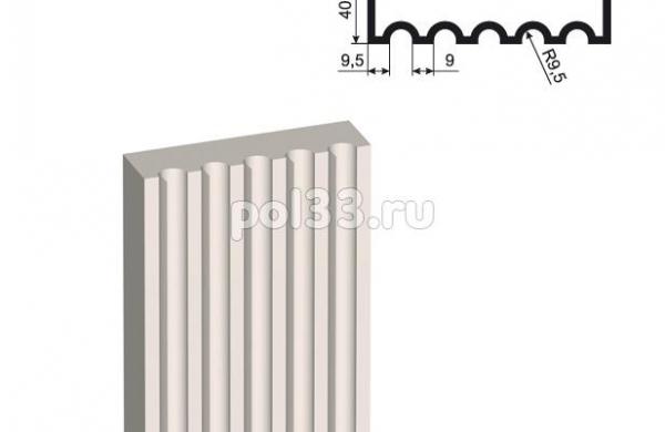 Пилястра Lepninaplast (Лепнинапласт) ПЛВ-150-5 2500 мм